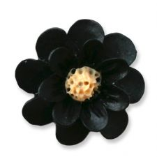 18mm Black Matte Daisy Resin Flatback Cabochons